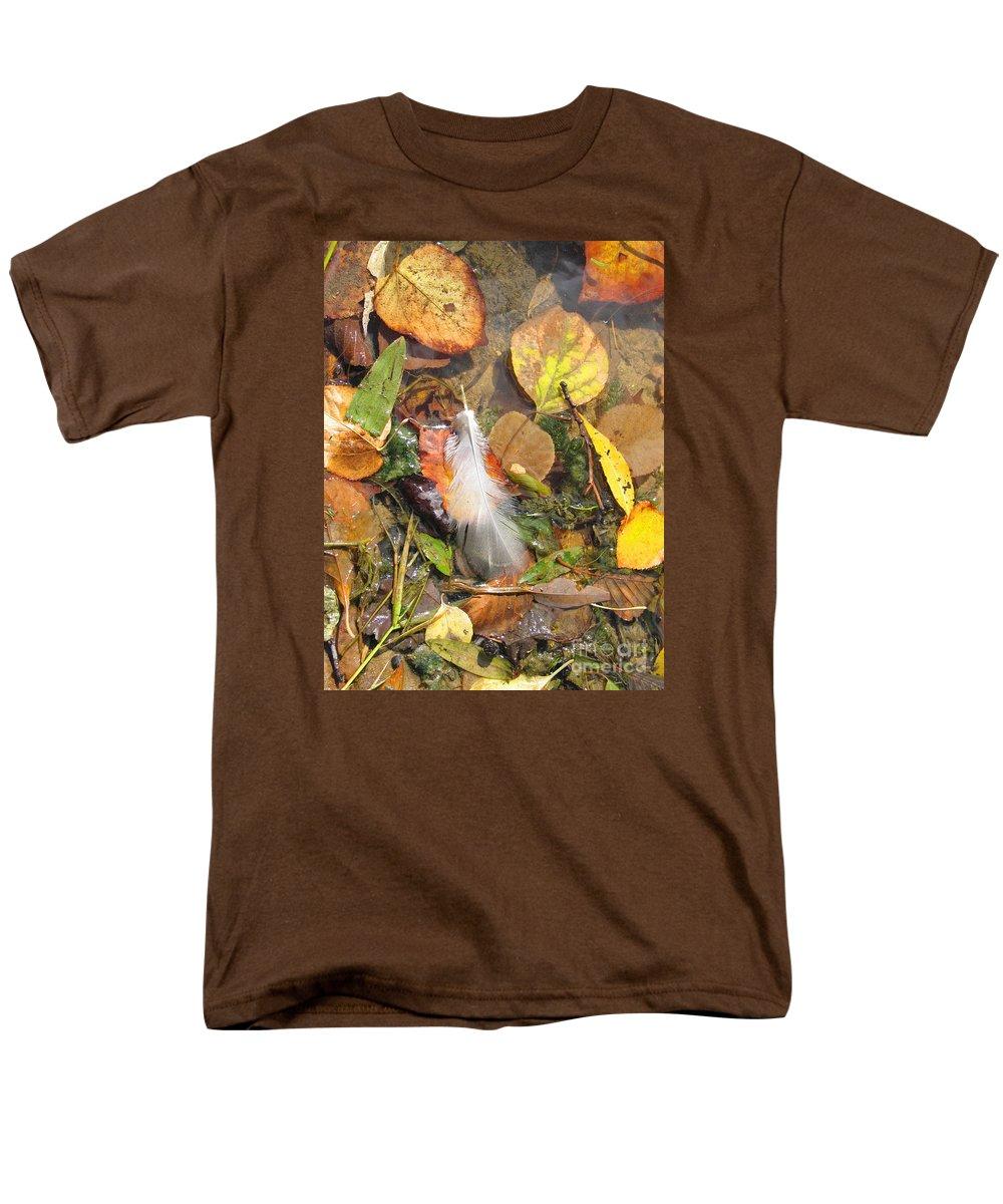Autumn Men's T-Shirt (Regular Fit) featuring the photograph Autumn Leavings by Ann Horn