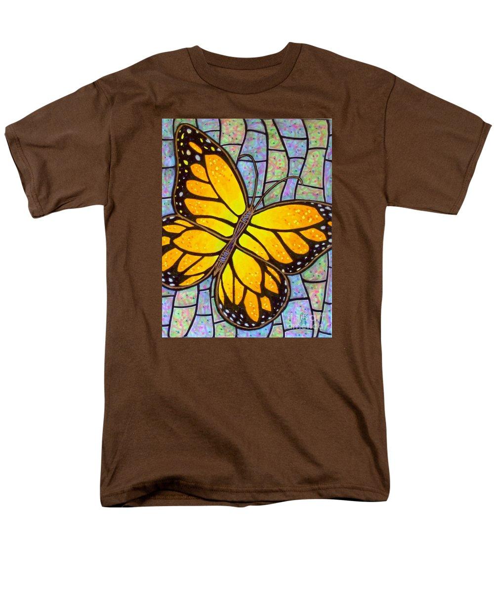 Butterflies Men's T-Shirt (Regular Fit) featuring the painting Karens Butterfly by Jim Harris