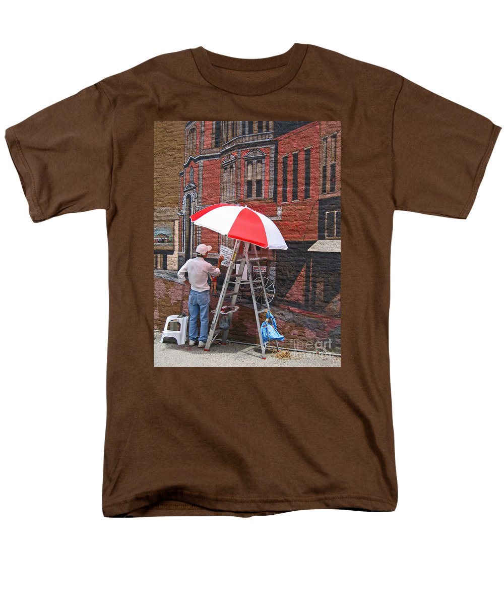 Artist Men's T-Shirt (Regular Fit) featuring the photograph Painting the Past by Ann Horn