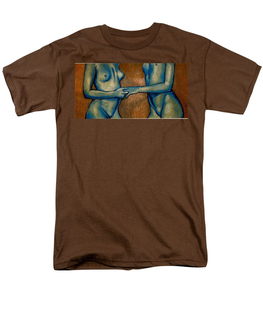 Nudes Men's T-Shirt (Regular Fit) featuring the painting Friends by Thomas Valentine