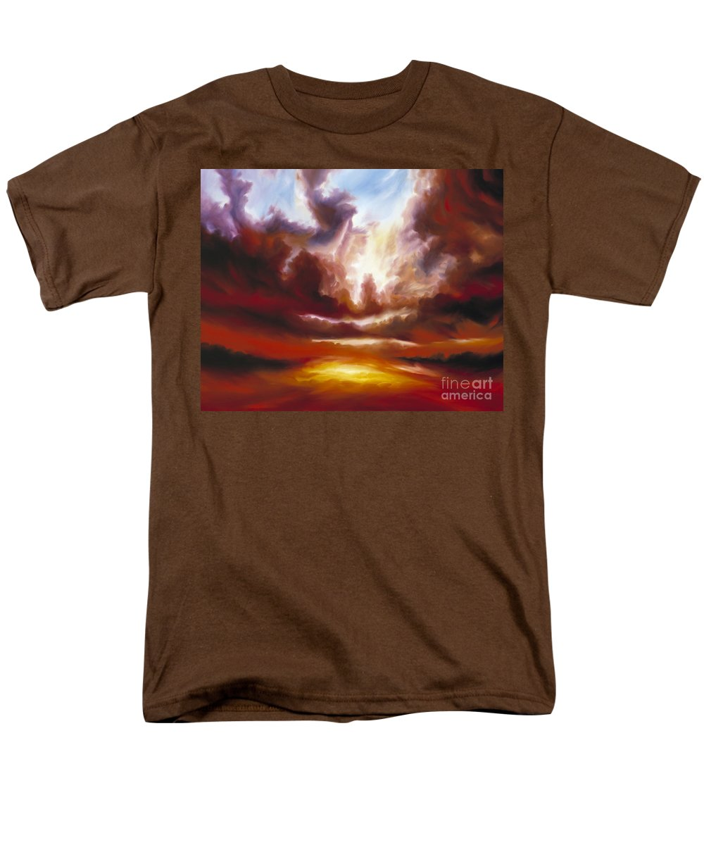 Tempest Men's T-Shirt (Regular Fit) featuring the painting A Cosmic Storm - Genesis V by James Christopher Hill