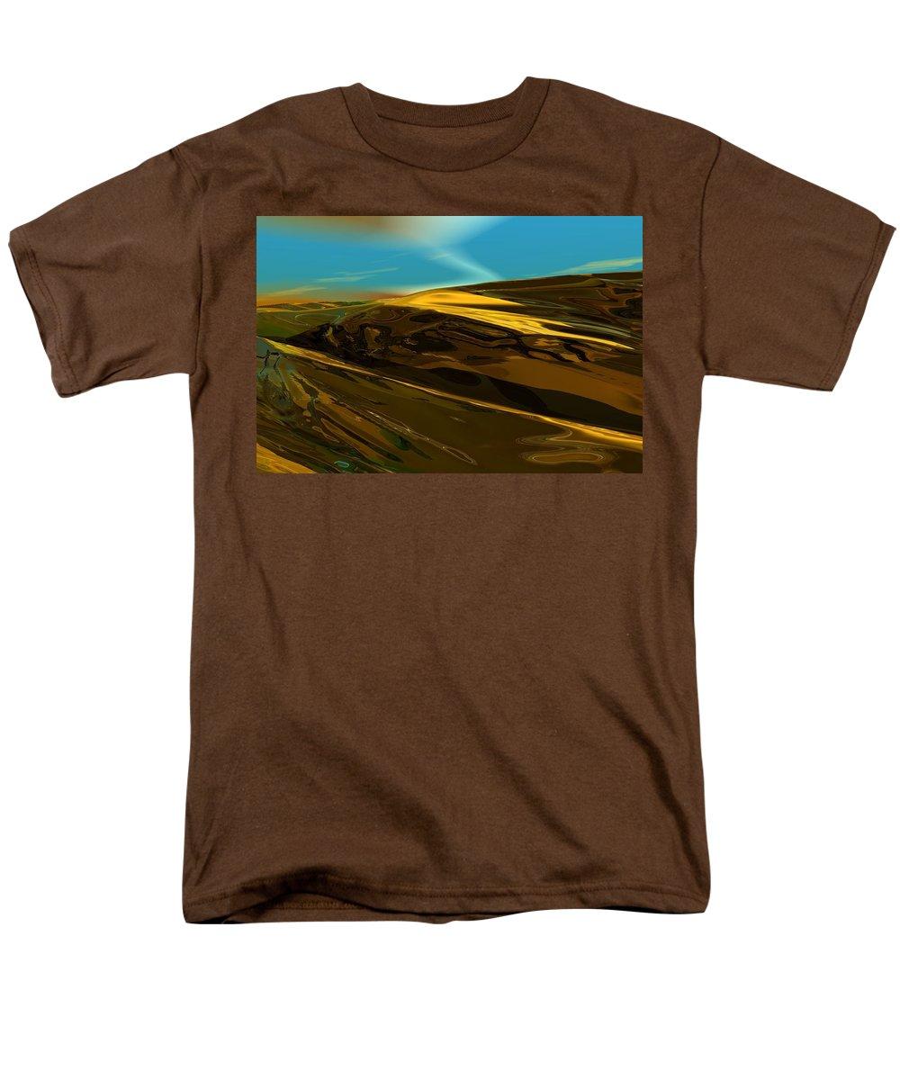Landscape Men's T-Shirt (Regular Fit) featuring the digital art Alien landscape 2-28-09 by David Lane