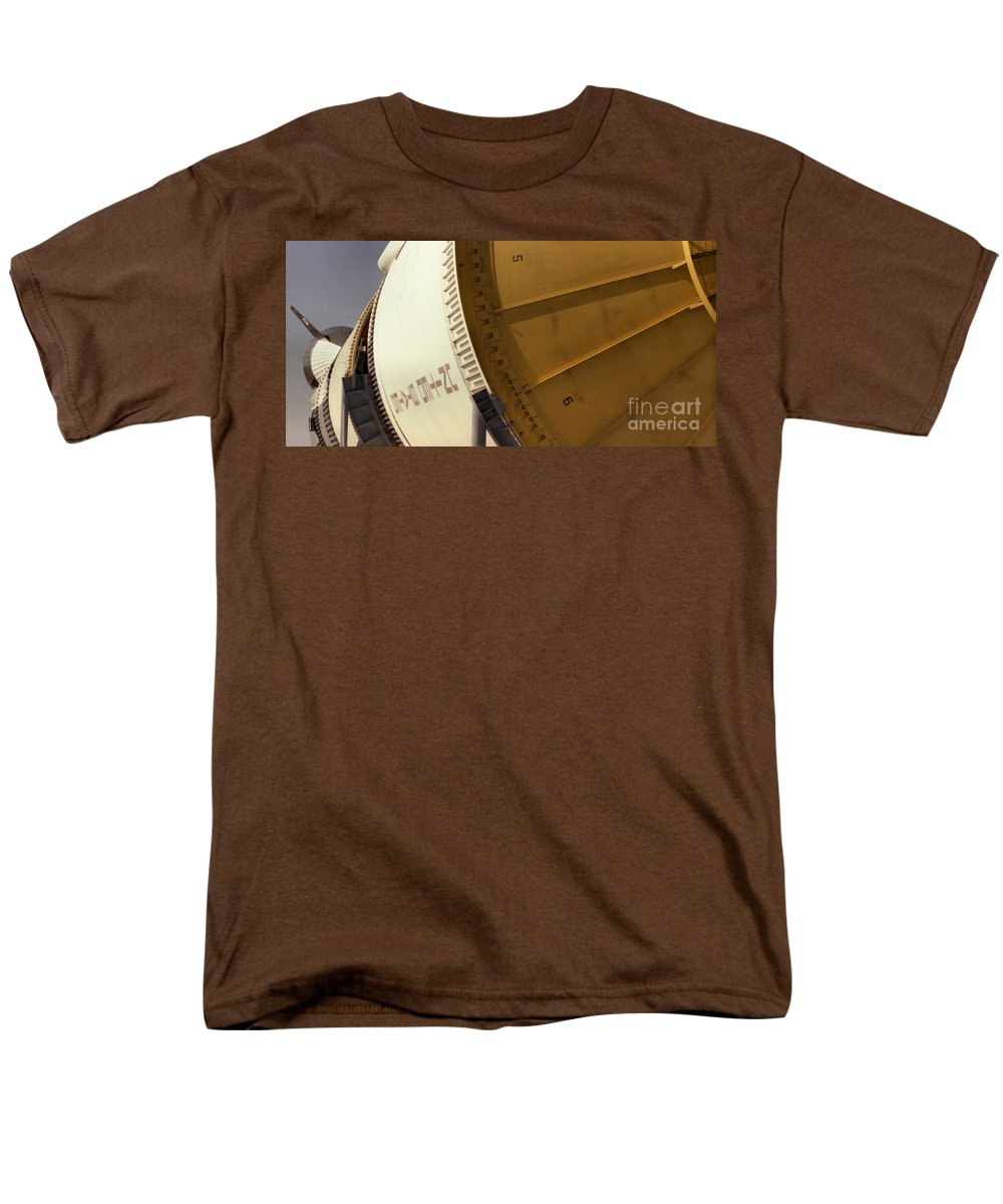 Technology Men's T-Shirt (Regular Fit) featuring the photograph Apollo Rocket by Richard Rizzo