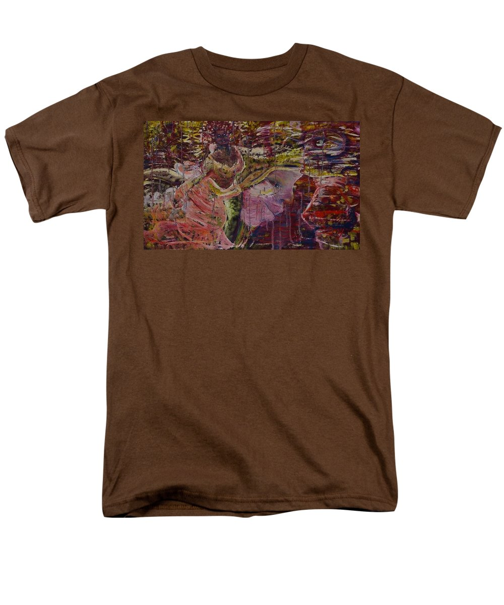 Portrait Men's T-Shirt (Regular Fit) featuring the painting April 29th. by Peggy Blood