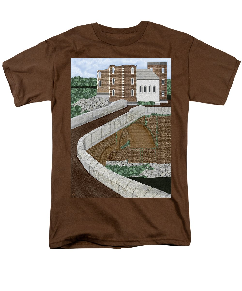 Castle Ruins Men's T-Shirt (Regular Fit) featuring the painting Beloved Ruins by Anne Norskog