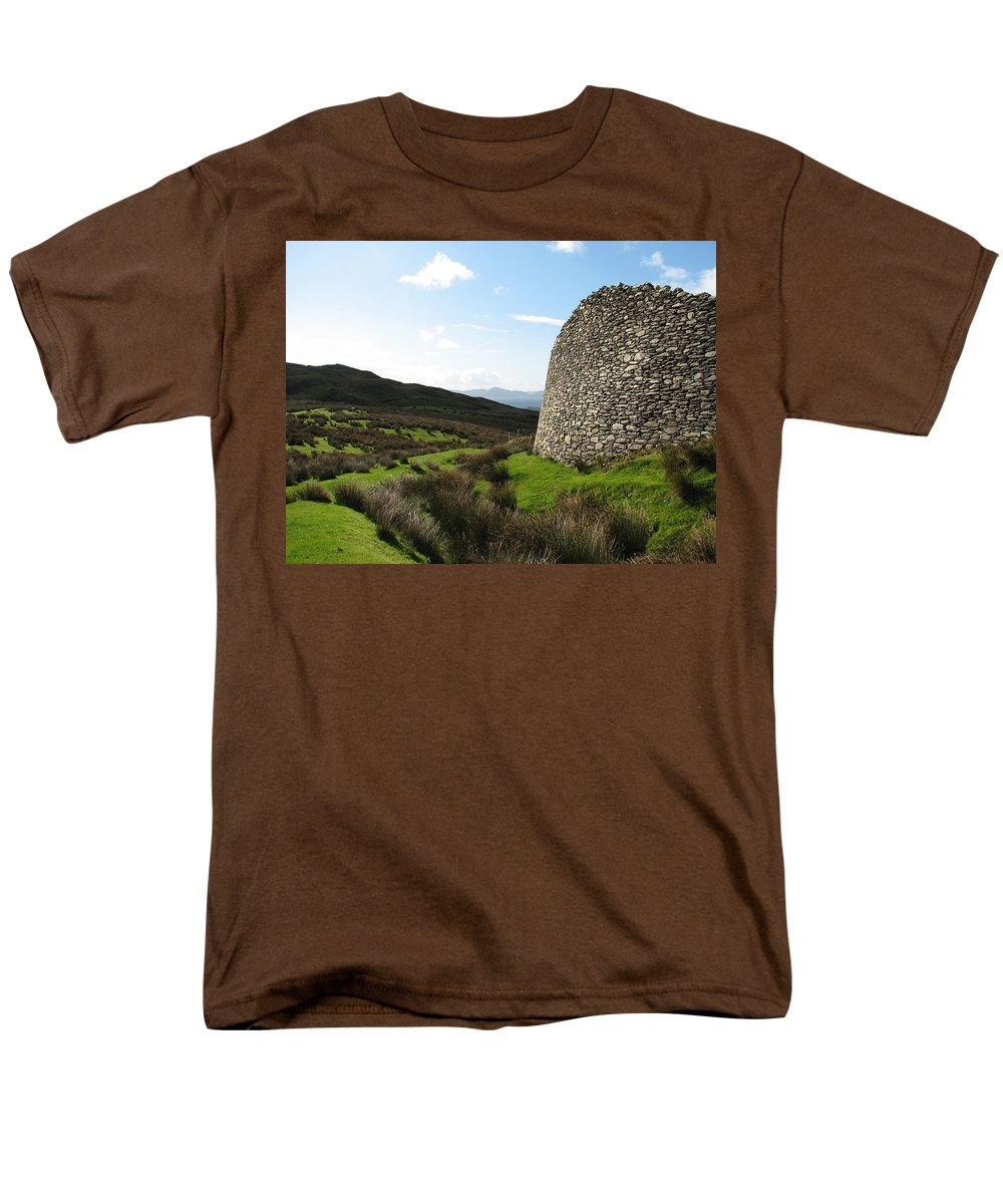 Fort Men's T-Shirt (Regular Fit) featuring the photograph Cathair Na Steige by Kelly Mezzapelle