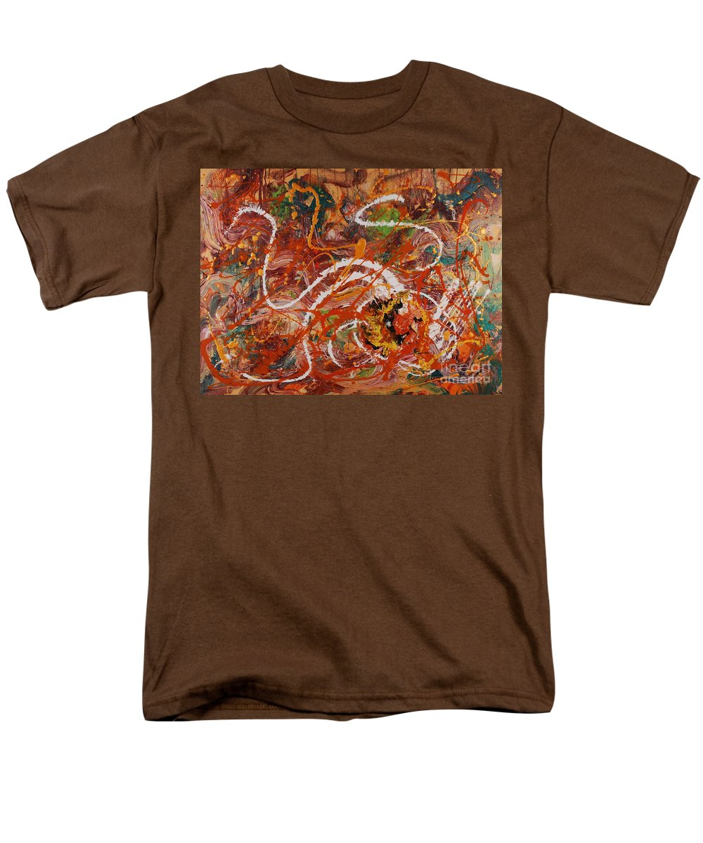 Orange Men's T-Shirt (Regular Fit) featuring the painting Celebration II by Nadine Rippelmeyer