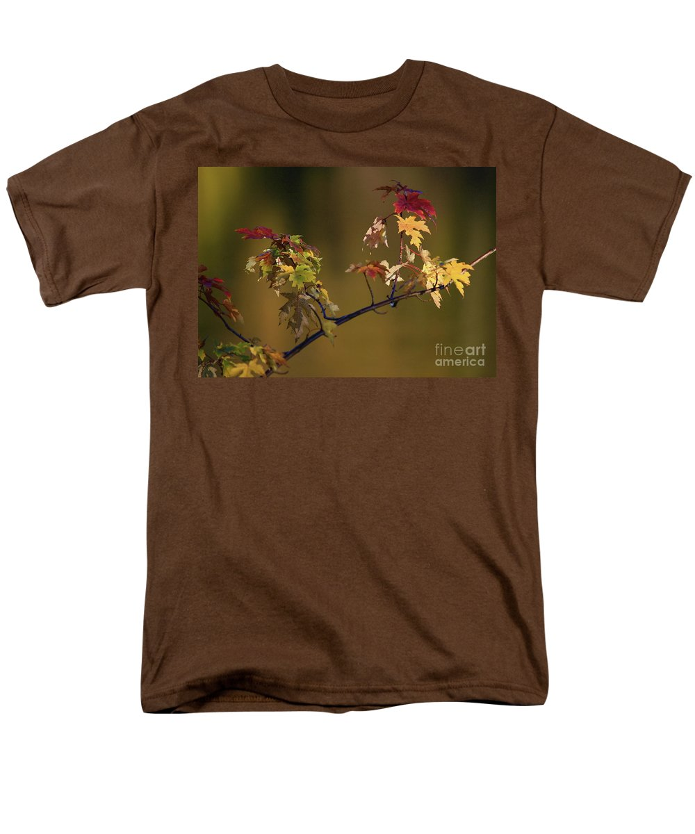 Fall Men's T-Shirt (Regular Fit) featuring the photograph Color on a stick by Robert Pearson