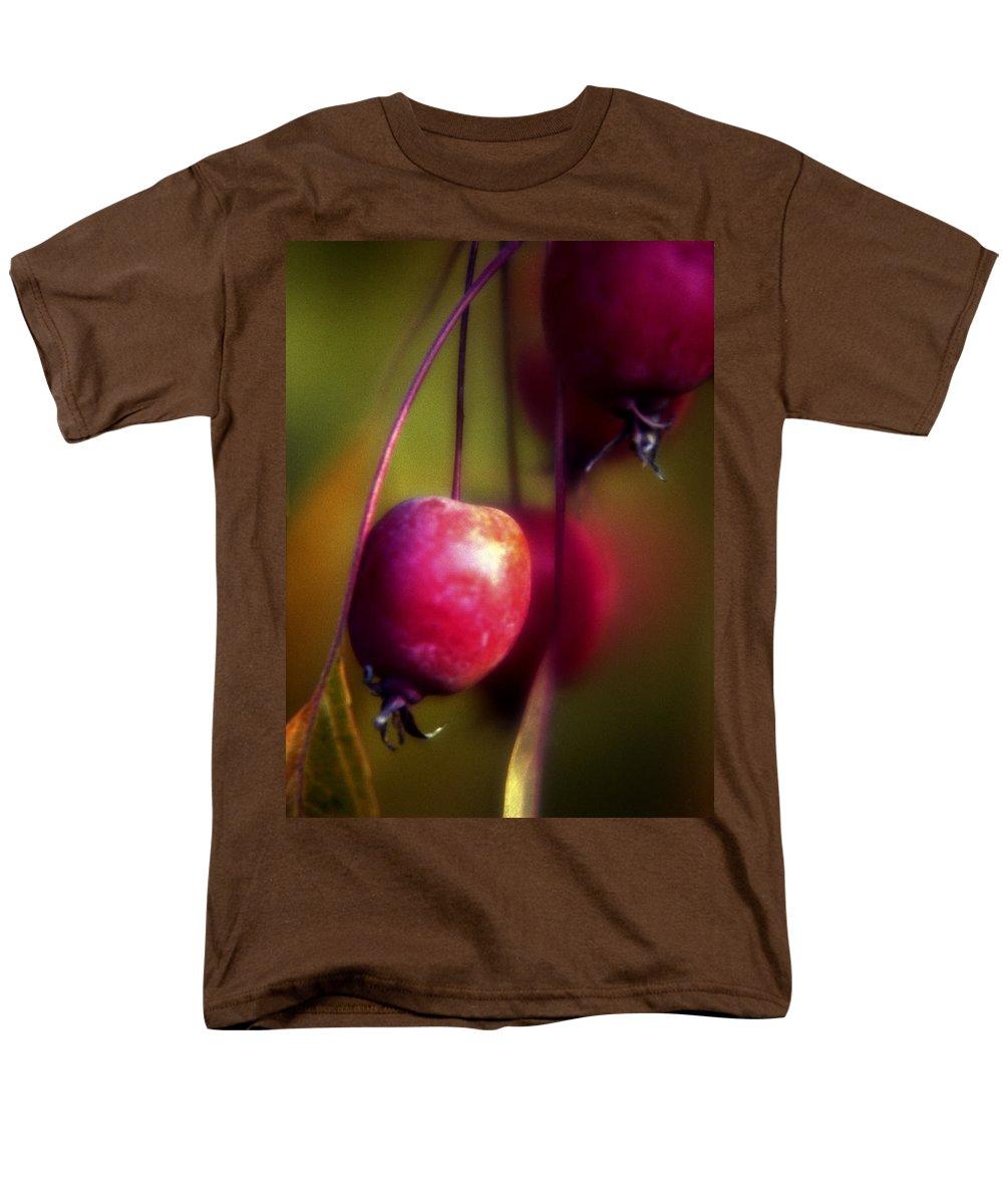 Macro Men's T-Shirt (Regular Fit) featuring the photograph Crabapple by Lee Santa