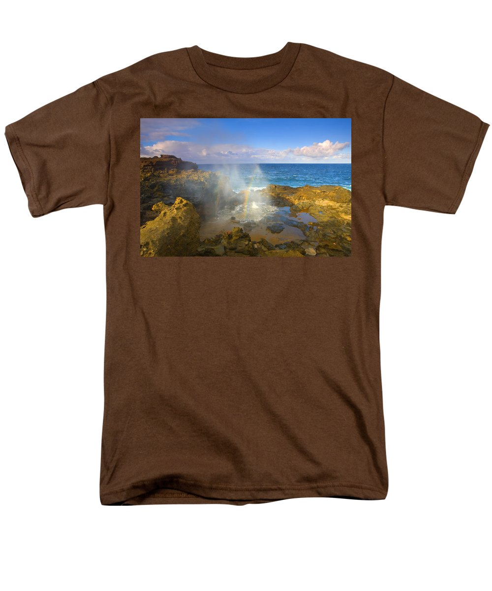 Blowhole Men's T-Shirt (Regular Fit) featuring the photograph Creating Miracles by Mike Dawson