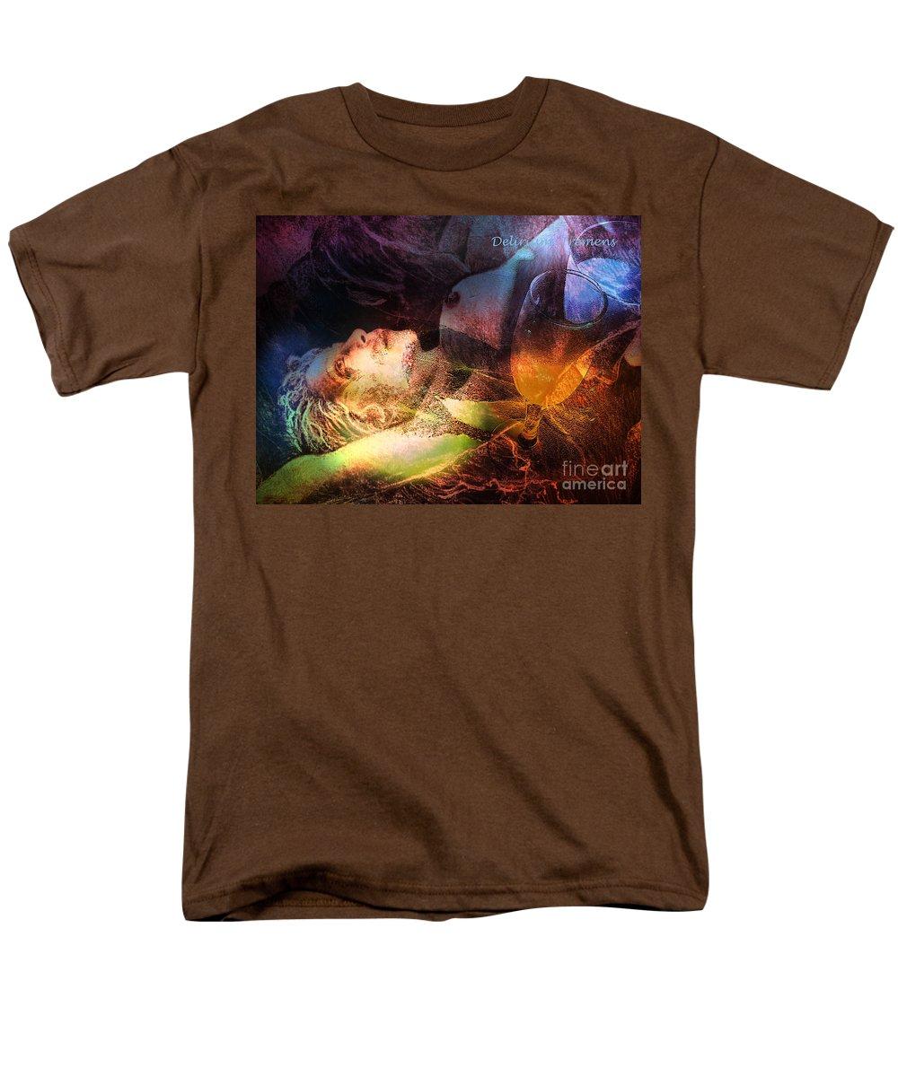 Fantasy Men's T-Shirt (Regular Fit) featuring the painting Delirium Tremens by Miki De Goodaboom