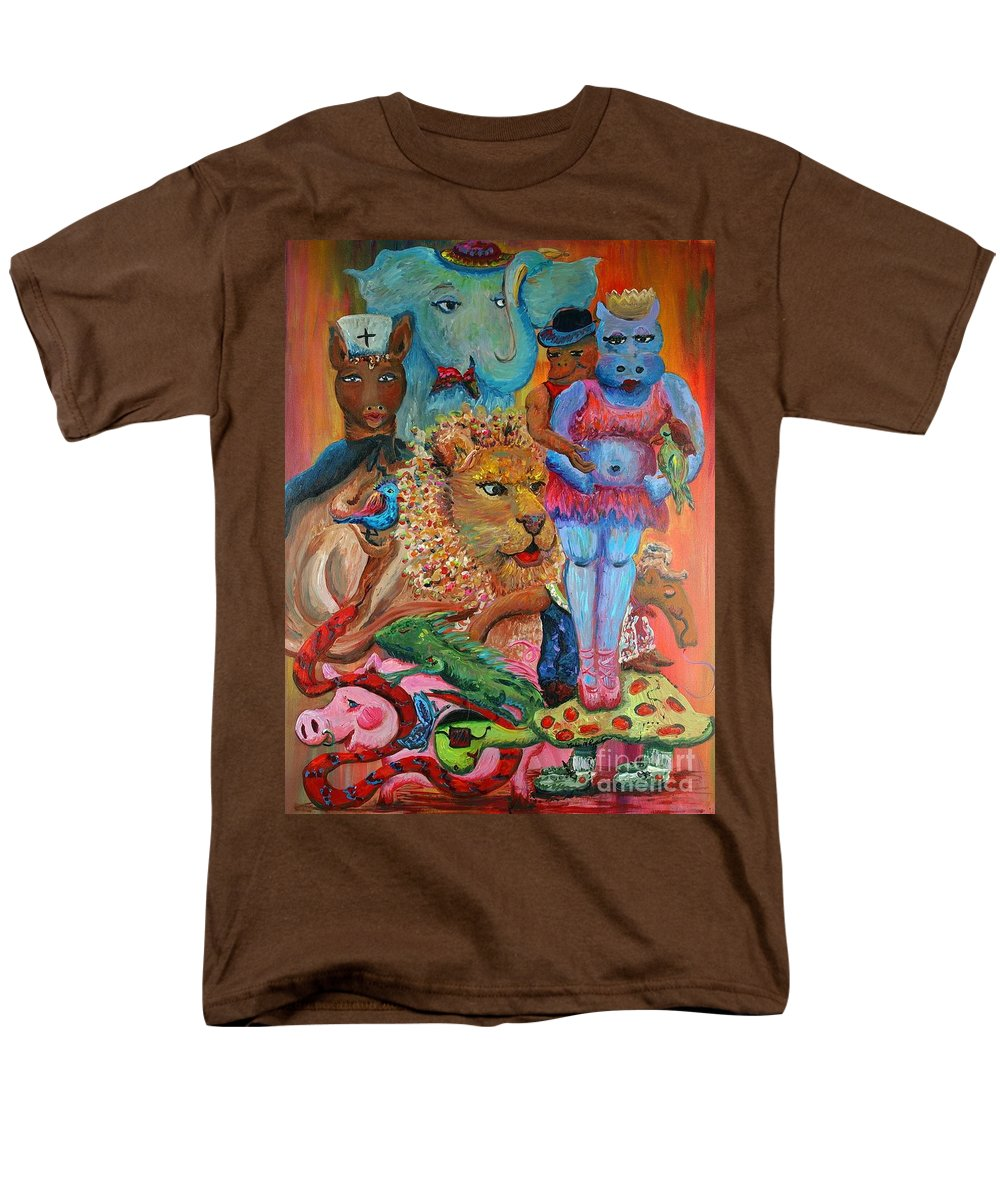 Diversity Men's T-Shirt (Regular Fit) featuring the painting Diversity by Nadine Rippelmeyer