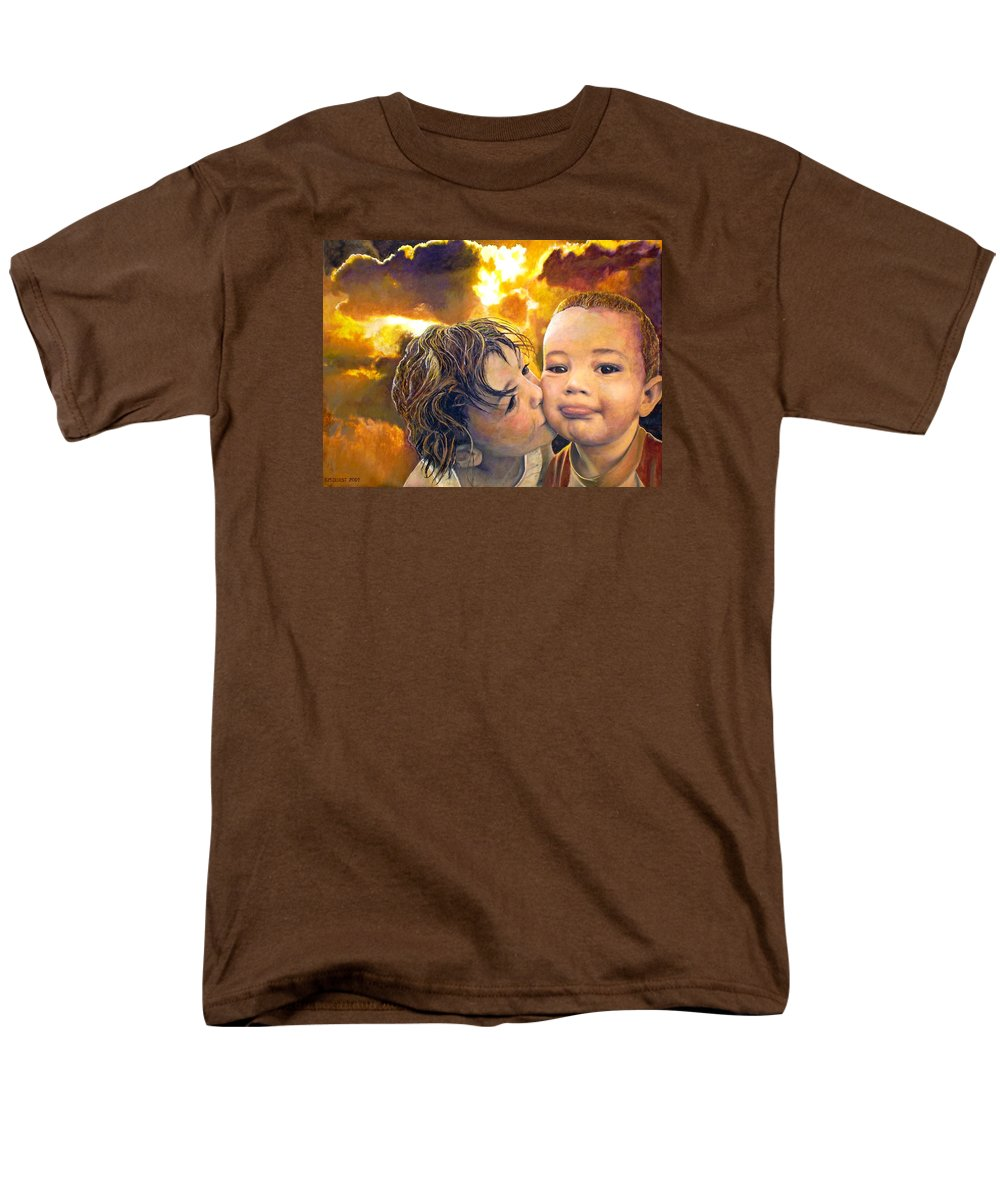 Children Men's T-Shirt (Regular Fit) featuring the painting First Kiss by Michael Durst