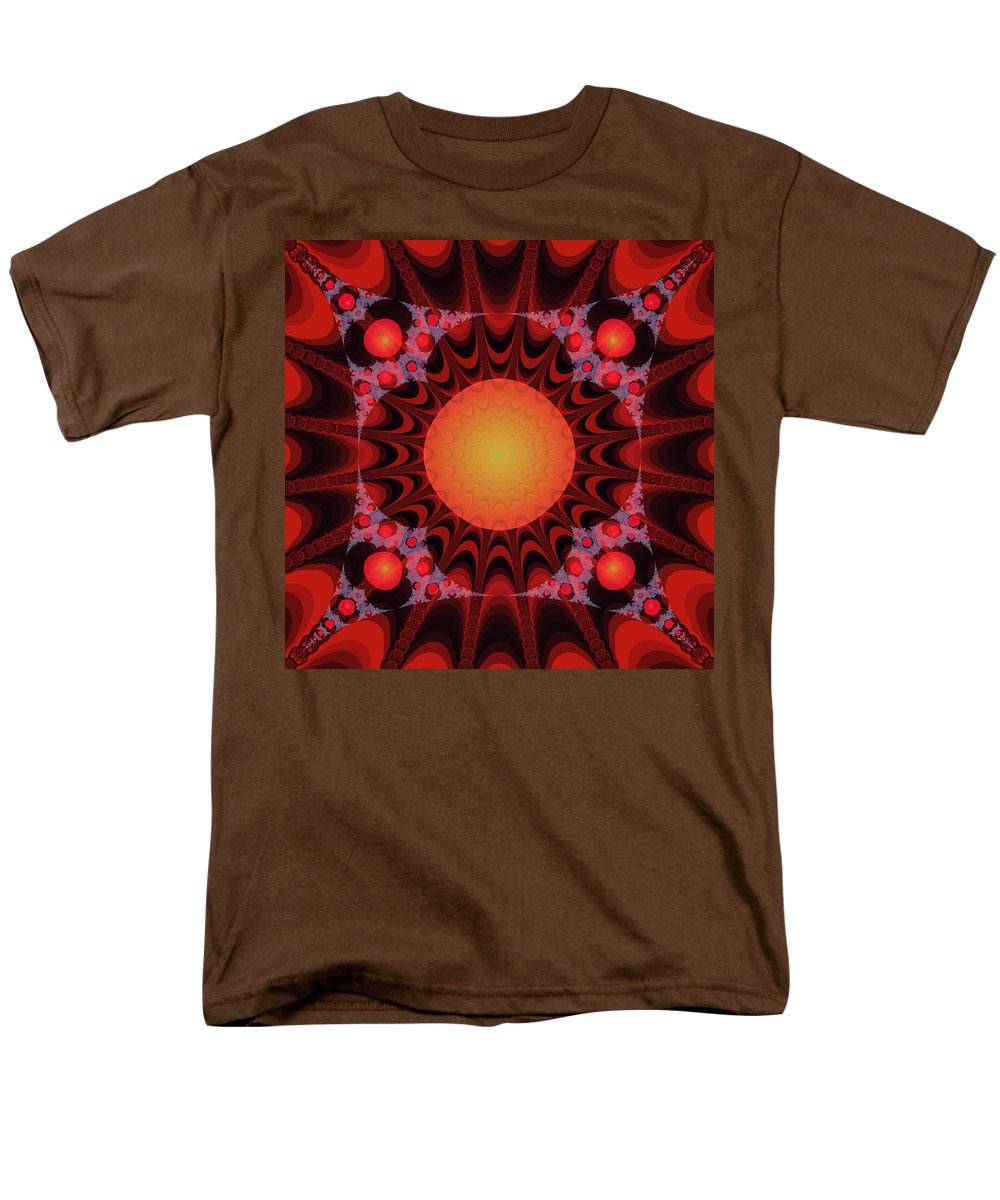 Fractal Men's T-Shirt (Regular Fit) featuring the digital art Flaming Sol by Frederic Durville