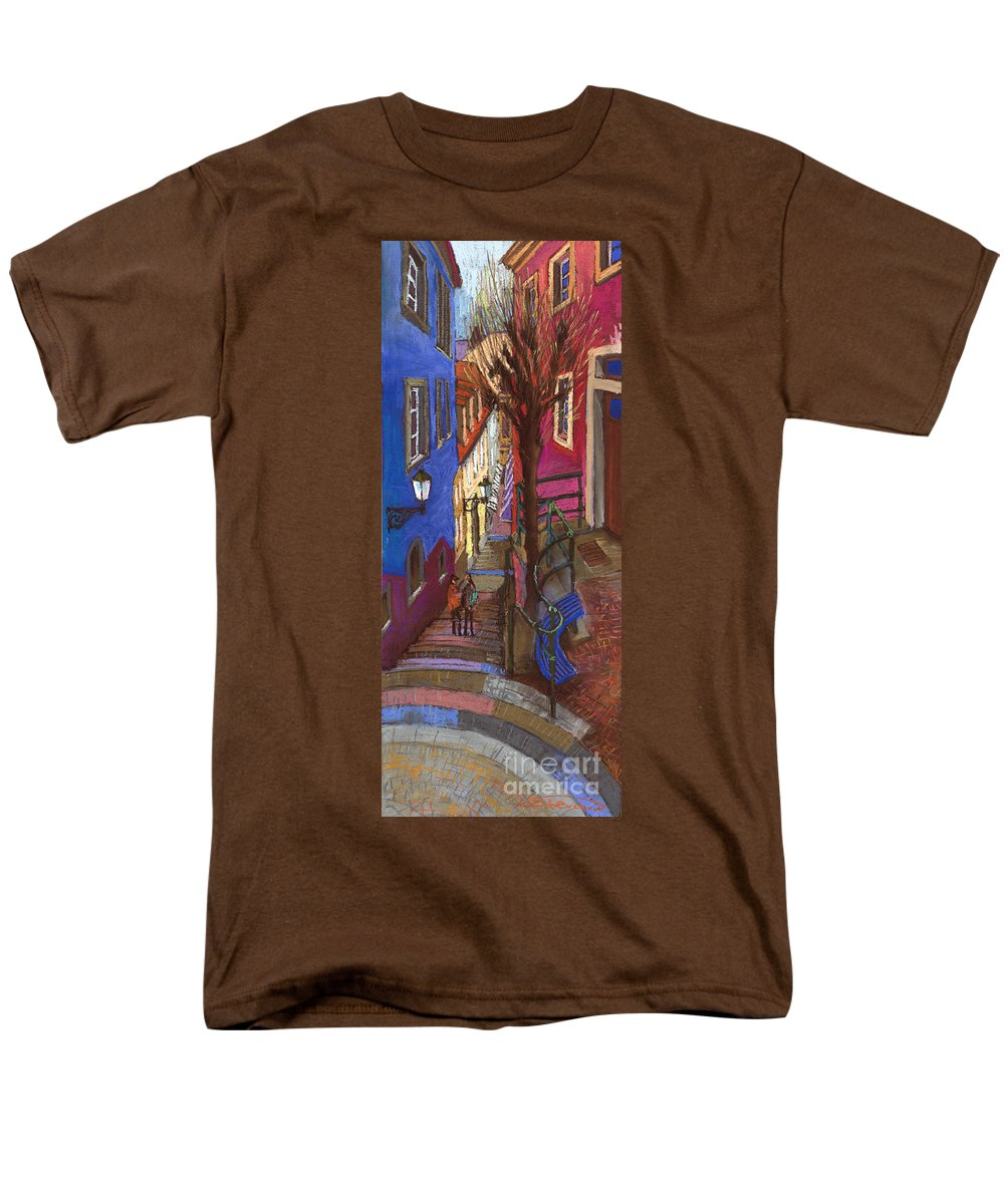 Pastel Men's T-Shirt (Regular Fit) featuring the painting Germany Baden-Baden 08 by Yuriy Shevchuk