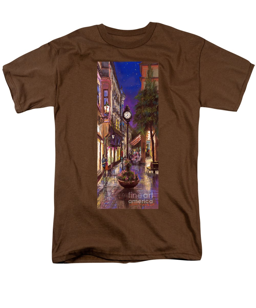 Pastel Men's T-Shirt (Regular Fit) featuring the painting Germany Baden-Baden 11 by Yuriy Shevchuk