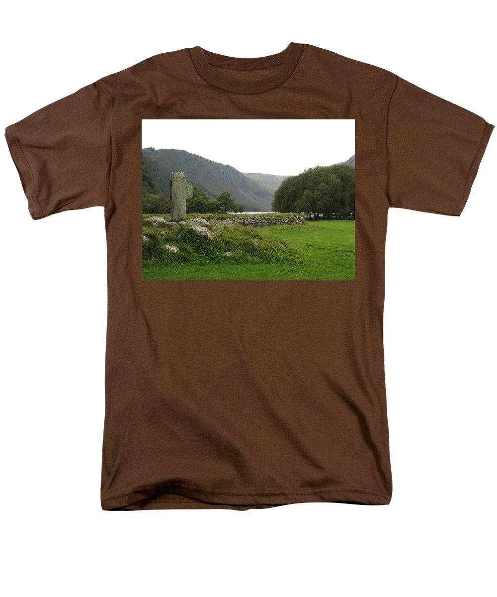 Glendalough Men's T-Shirt (Regular Fit) featuring the photograph Glendalough by Kelly Mezzapelle