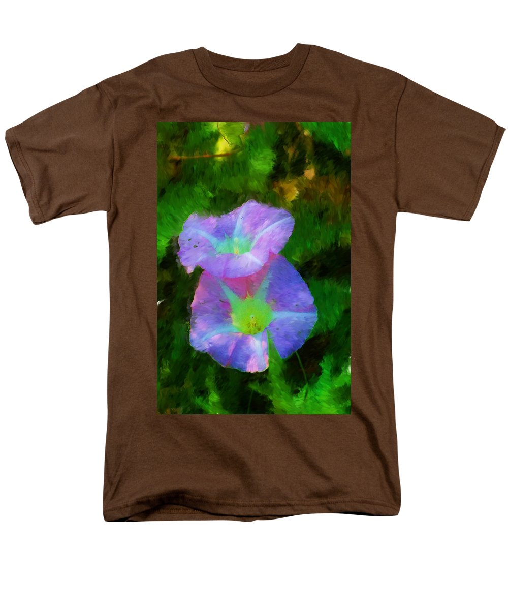 Floral Men's T-Shirt (Regular Fit) featuring the painting Gloria in the shade by David Lane