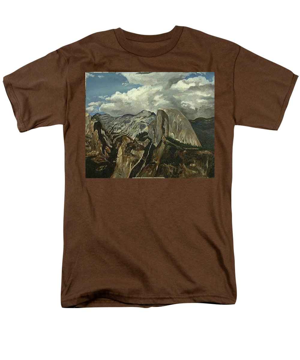Men's T-Shirt (Regular Fit) featuring the painting Half Dome by Travis Day