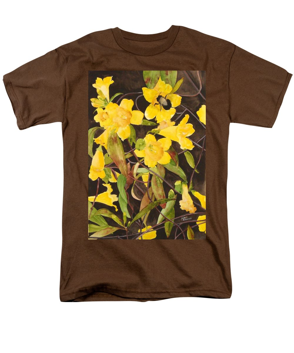 Flowers Men's T-Shirt (Regular Fit) featuring the painting Jessamine Jungle by Jean Blackmer