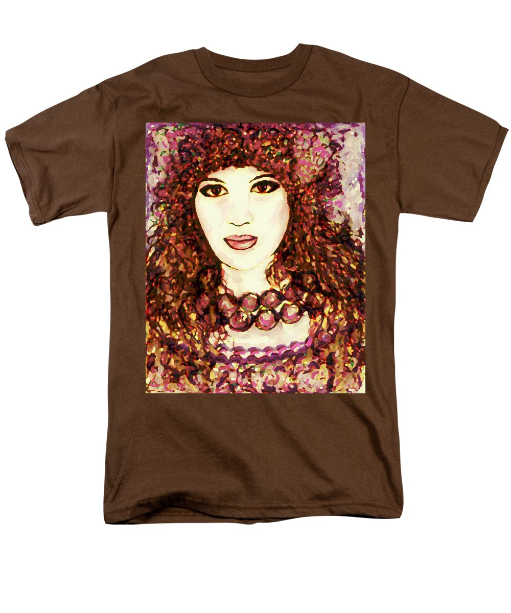 Woman Men's T-Shirt (Regular Fit) featuring the painting Lilac by Natalie Holland