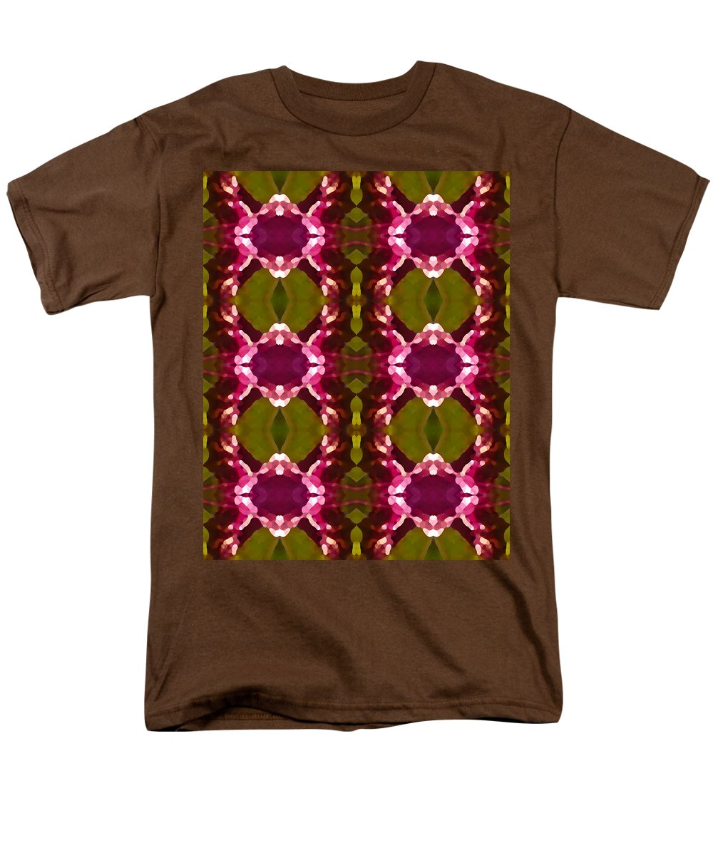 Abstract Men's T-Shirt (Regular Fit) featuring the painting Magenta Crystal Pattern by Amy Vangsgard