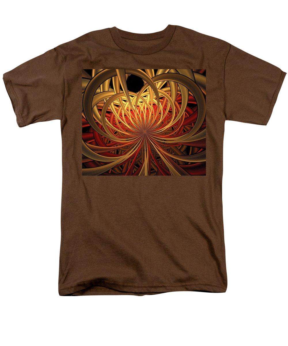 Digital Art Men's T-Shirt (Regular Fit) featuring the digital art Marigold by Amanda Moore