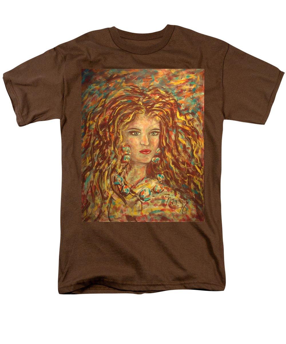 Natashka Men's T-Shirt (Regular Fit) featuring the painting Natashka by Natalie Holland
