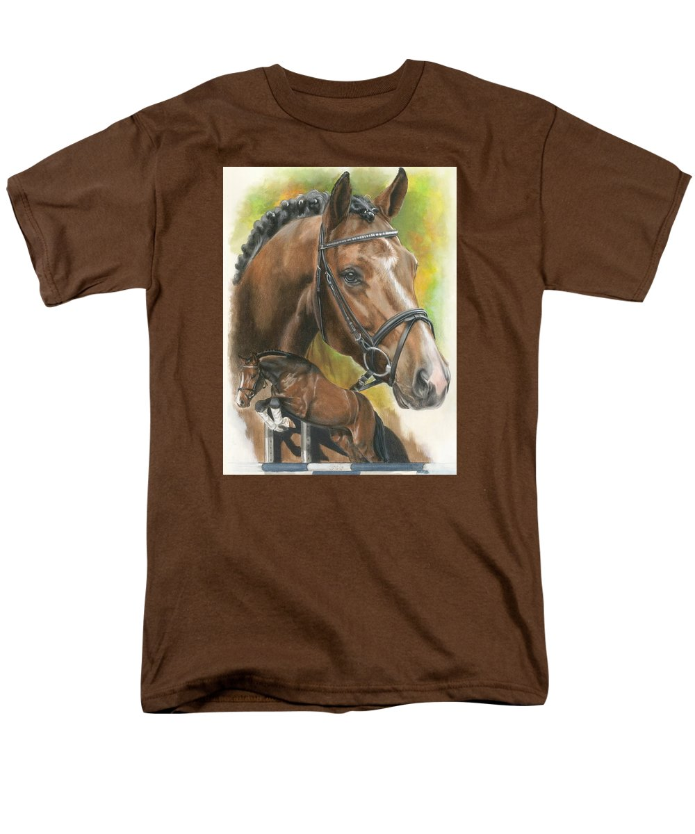 Horse Men's T-Shirt (Regular Fit) featuring the mixed media Oldenberg by Barbara Keith