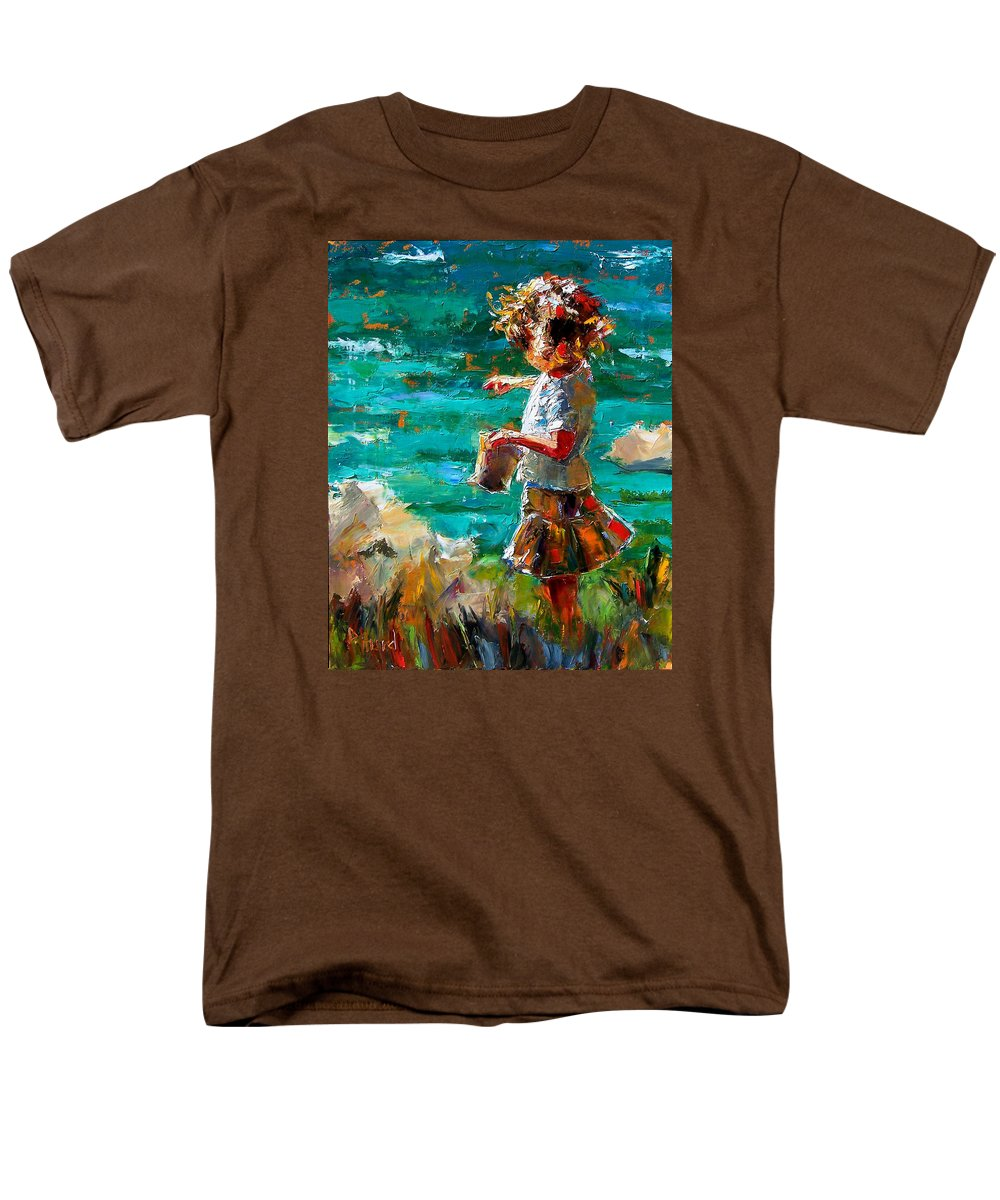 Children Men's T-Shirt (Regular Fit) featuring the painting One At A Time by Debra Hurd