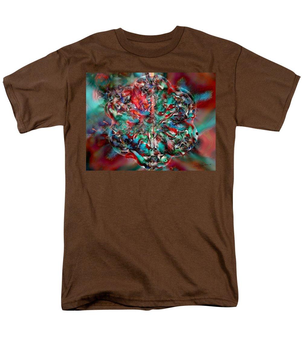 Heart Passion Life Men's T-Shirt (Regular Fit) featuring the digital art Open Heart by Veronica Jackson