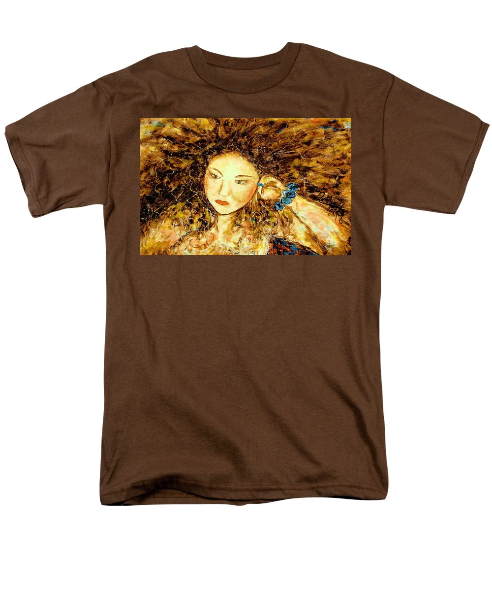Portrait Men's T-Shirt (Regular Fit) featuring the painting Poet by Natalie Holland