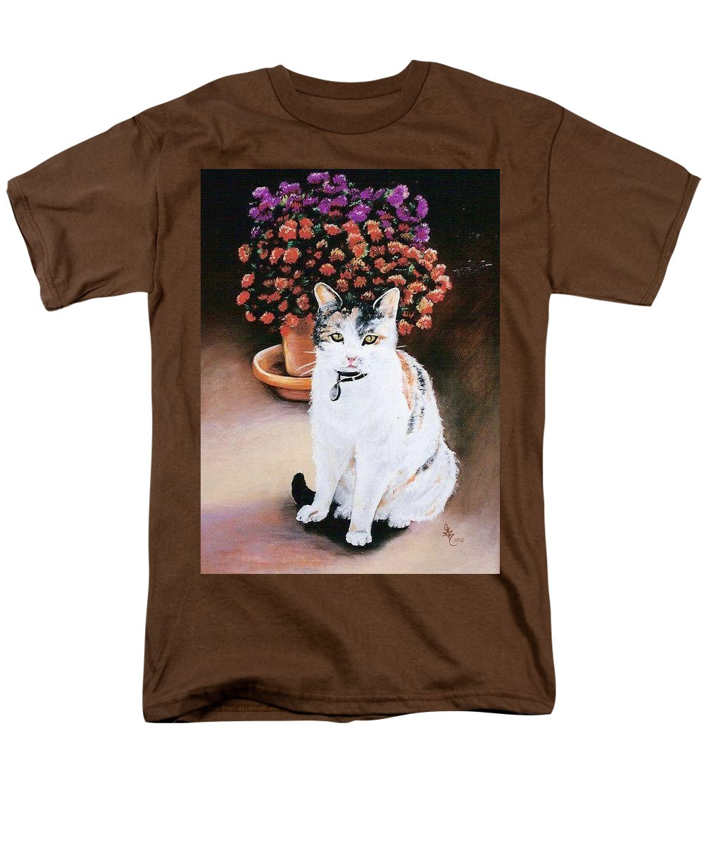 Cat Men's T-Shirt (Regular Fit) featuring the pastel Queen Marishka by Gale Cochran-Smith