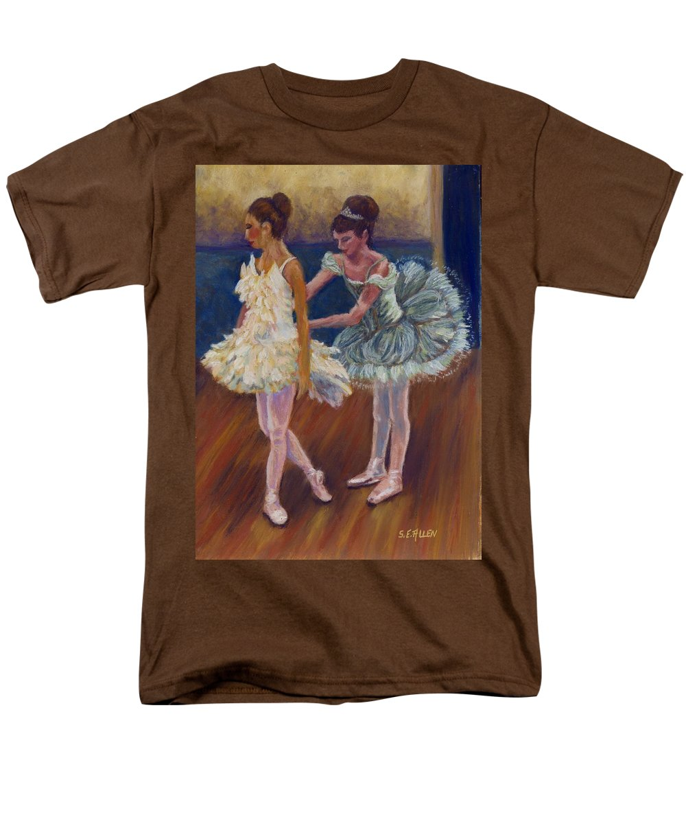 Ballerina Men's T-Shirt (Regular Fit) featuring the painting Ruffled Feathers by Sharon E Allen
