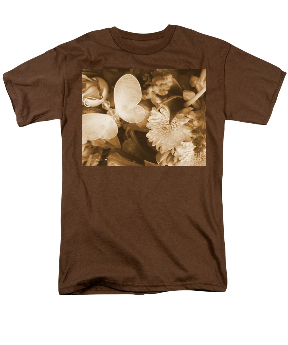 Photography Enhanced Men's T-Shirt (Regular Fit) featuring the photograph Silent Transformation Of Existence by Shelley Jones