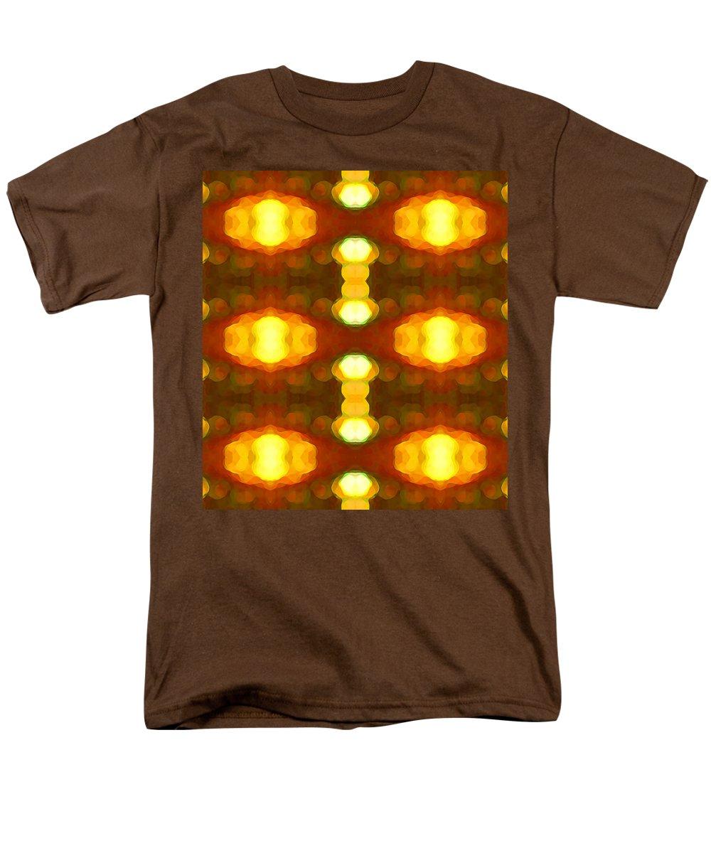 Abstract Painting Men's T-Shirt (Regular Fit) featuring the digital art Sunset Glow 1 by Amy Vangsgard
