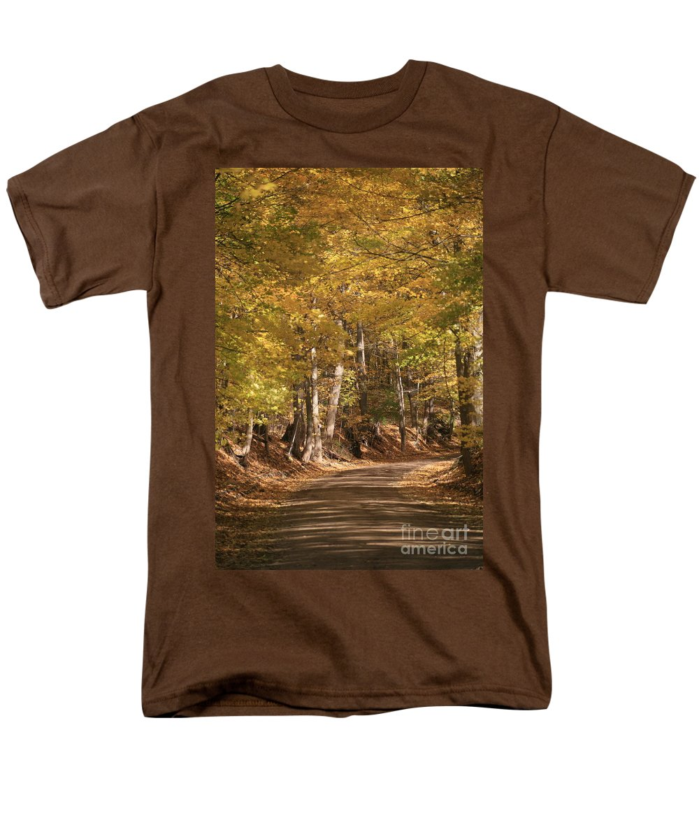 Golden Men's T-Shirt (Regular Fit) featuring the photograph The golden road by Robert Pearson