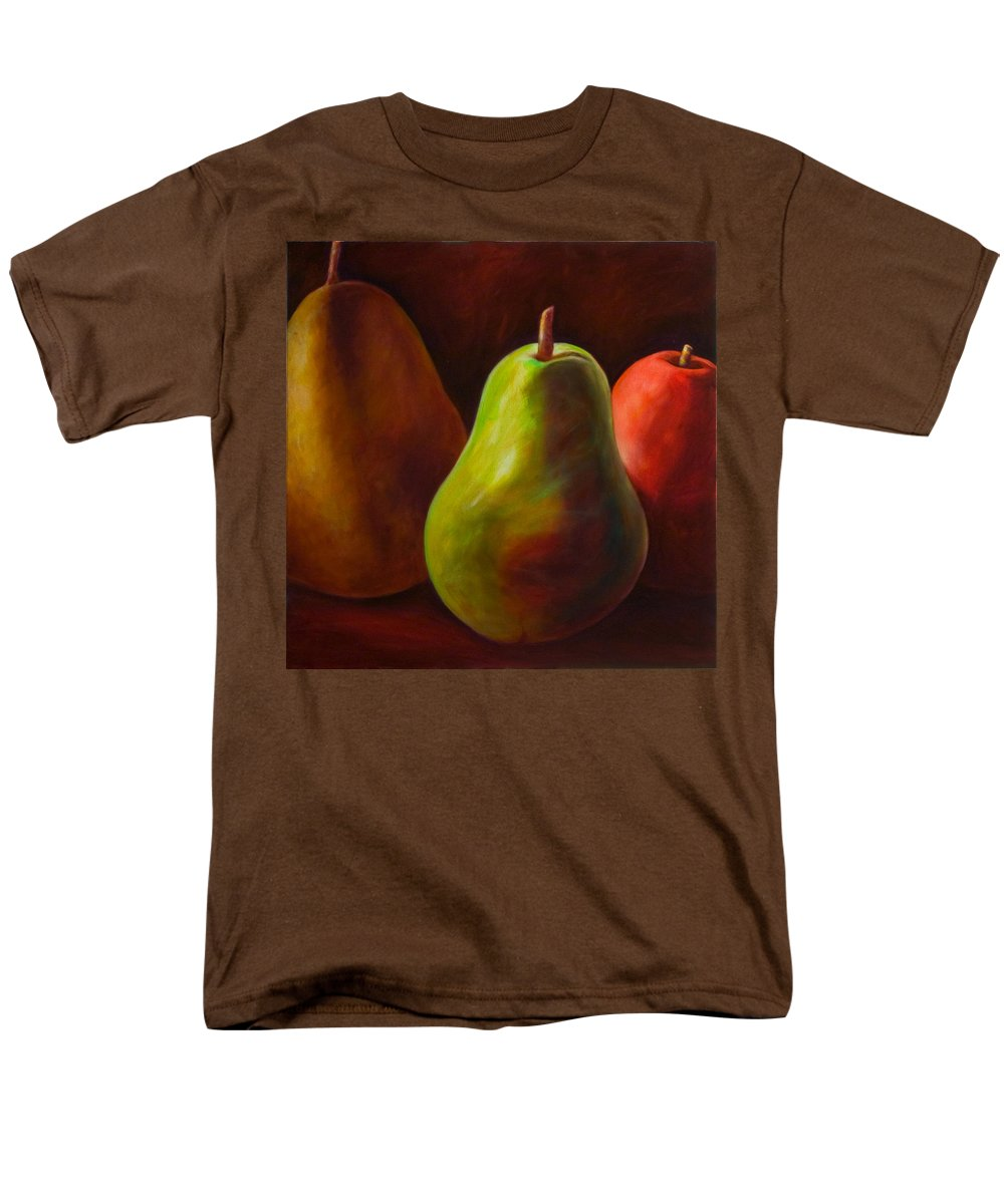 Fruit Men's T-Shirt (Regular Fit) featuring the painting Tri Pear by Shannon Grissom