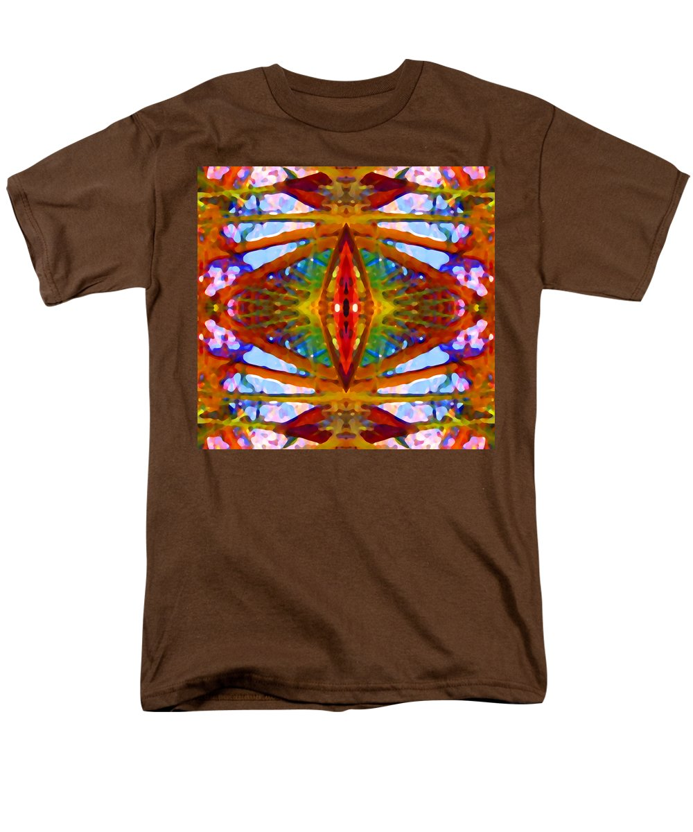 Abstract Men's T-Shirt (Regular Fit) featuring the painting Tropical Stained Glass by Amy Vangsgard