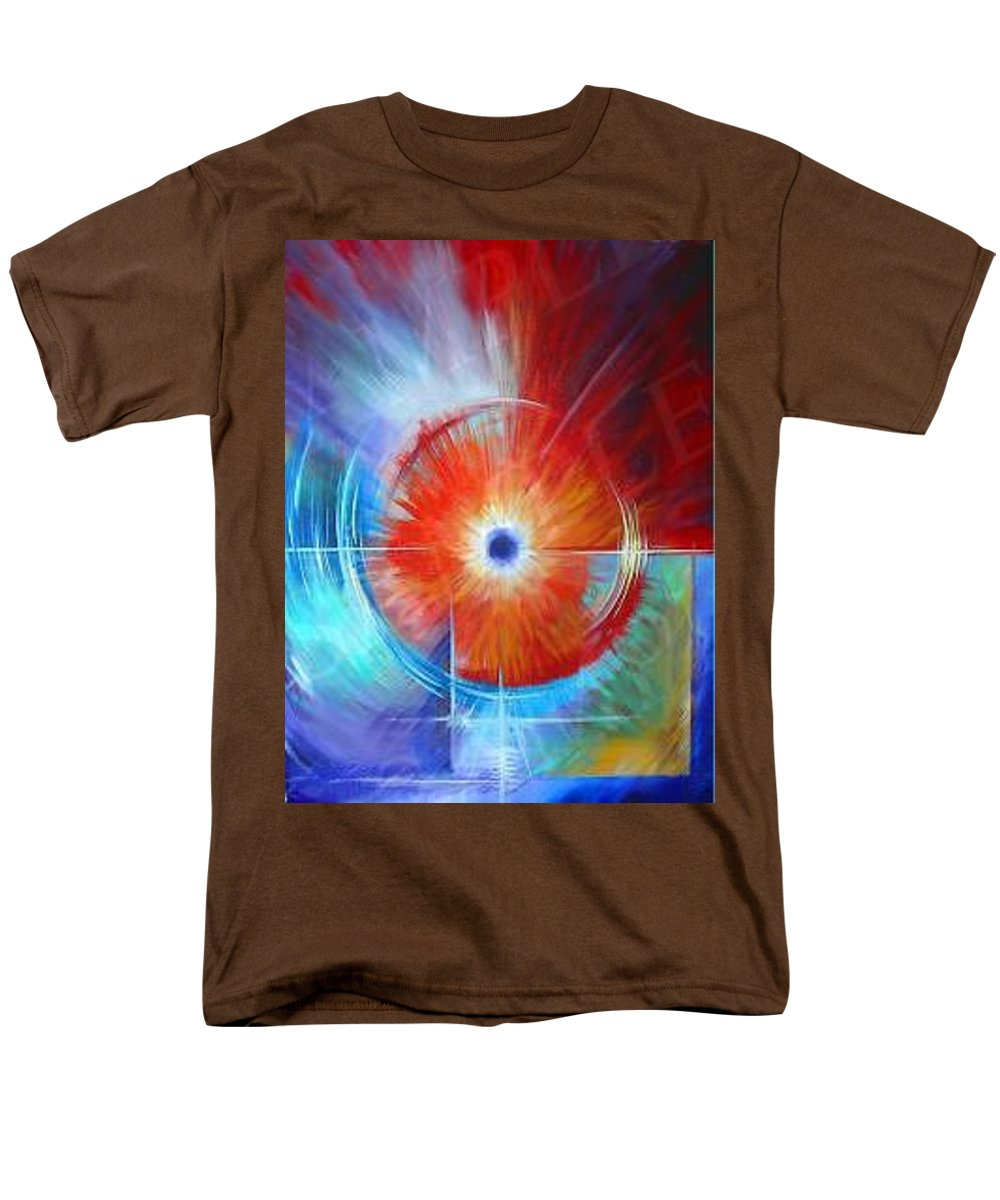 Clouds Men's T-Shirt (Regular Fit) featuring the painting Vortex by James Christopher Hill