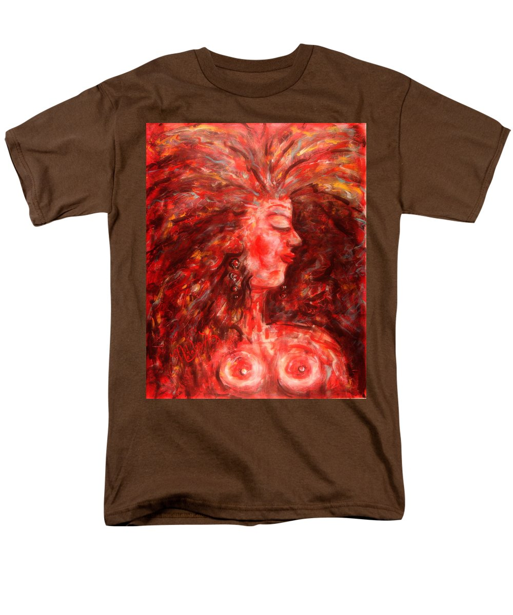 Female Men's T-Shirt (Regular Fit) featuring the painting Wild One by Natalie Holland