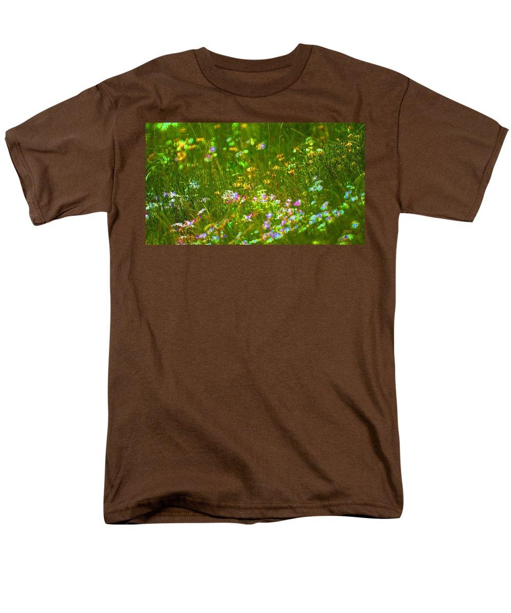 Wildflower Men's T-Shirt (Regular Fit) featuring the photograph Wildflower field by Heather Coen