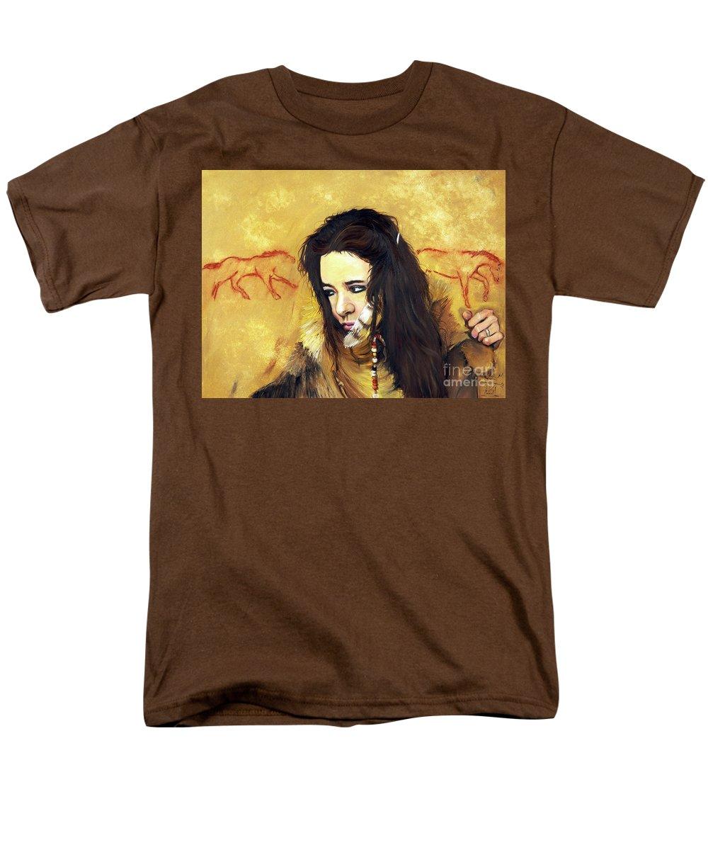 Southwest Art Men's T-Shirt (Regular Fit) featuring the painting Journey by J W Baker
