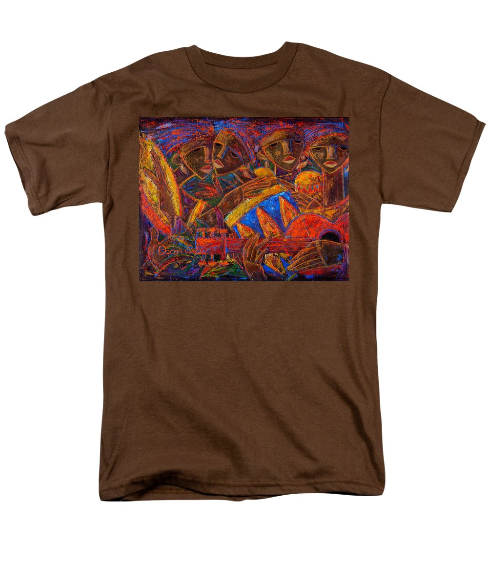 Puerto Rico Men's T-Shirt (Regular Fit) featuring the painting Musas Del Caribe by Oscar Ortiz
