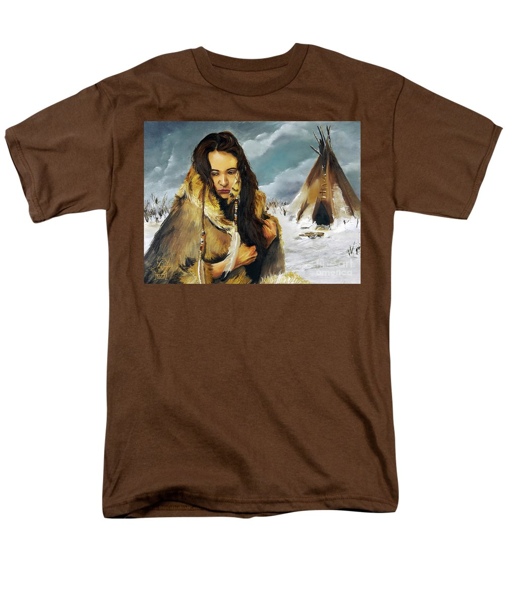 Southwest Art Men's T-Shirt (Regular Fit) featuring the painting Solitude by J W Baker