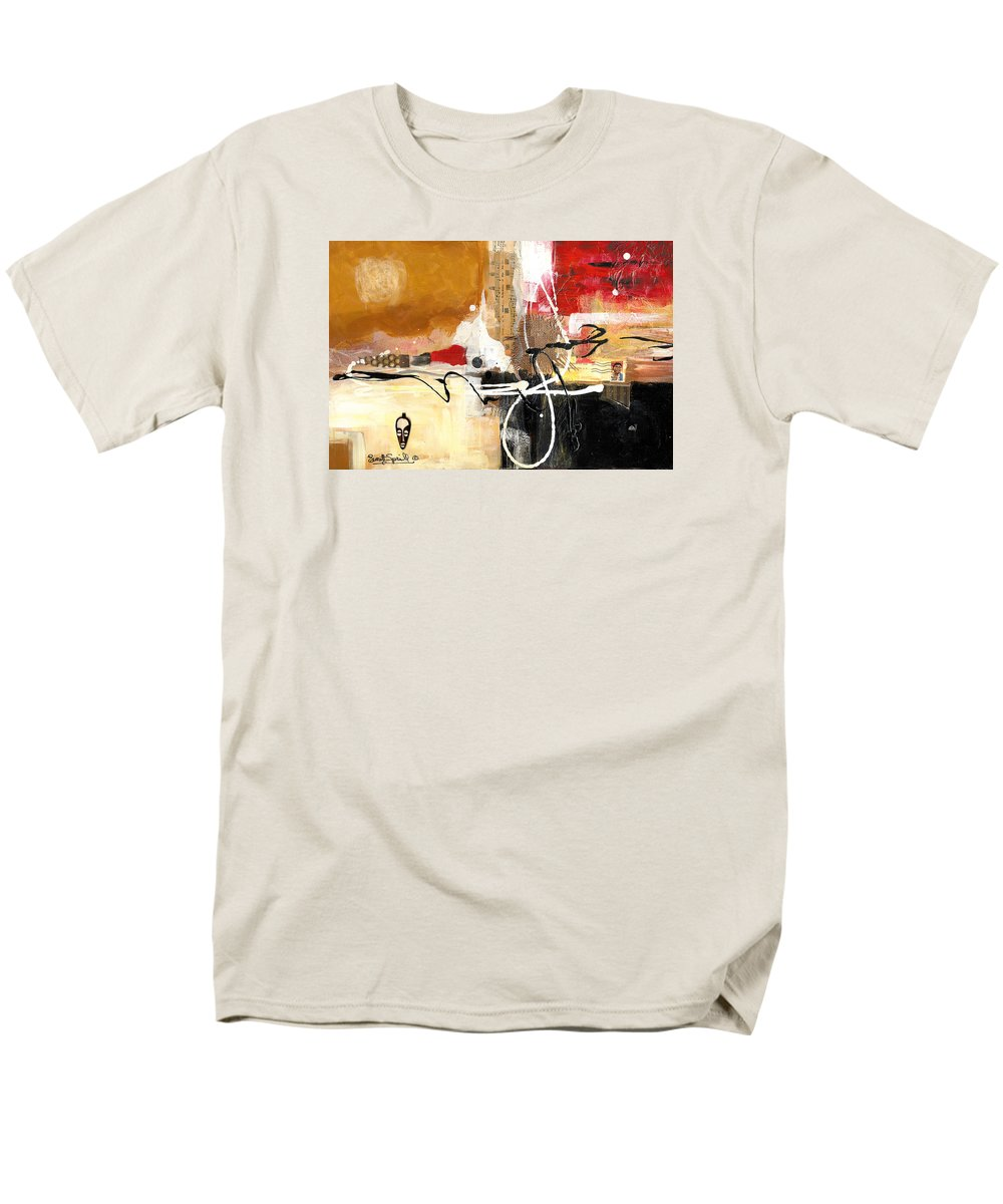 Everett Spruill Men's T-Shirt (Regular Fit) featuring the painting Cultural Abstractions - Hattie McDaniels by Everett Spruill