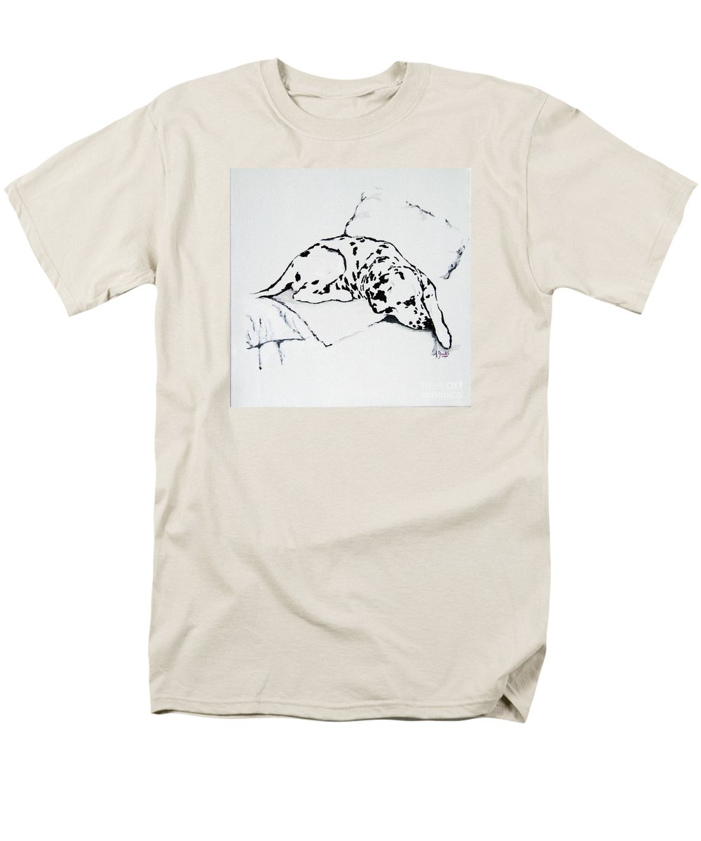 Dogs Men's T-Shirt (Regular Fit) featuring the painting Lazy Day by Jacki McGovern