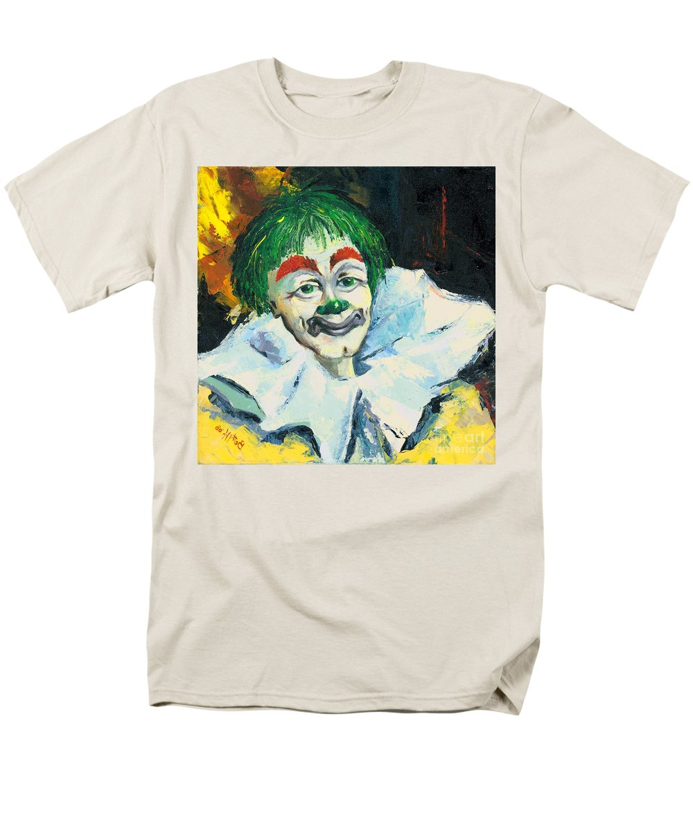 Canvas Prints Men's T-Shirt (Regular Fit) featuring the painting My Friend by Elisabeta Hermann