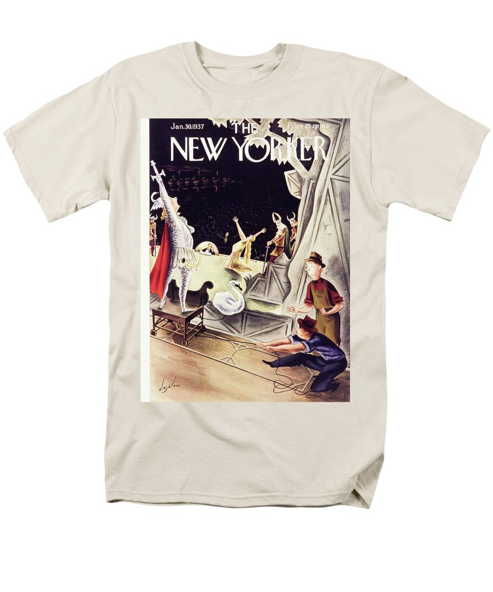 Illustration Men's T-Shirt (Regular Fit) featuring the painting New Yorker January 30 1937 by Constantin Alajalov