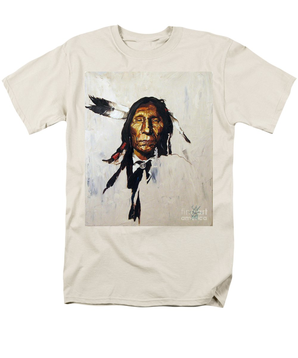 Southwest Art Men's T-Shirt (Regular Fit) featuring the painting Remember by J W Baker
